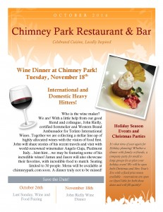 Chimneypark Newsletter October 2014_Page_1